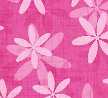 Pink Surf Daisies Card by thepatternroom