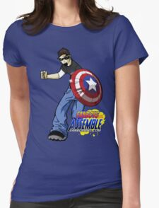 FanboysInc Assemble DW in Action Womens Fitted T-Shirt