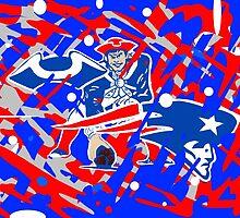new england patriots collage art by gjnilespop