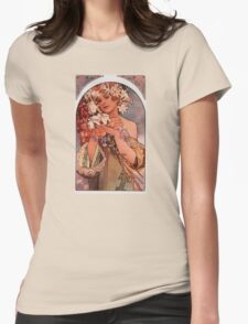 'Flowers' by Alphonse Mucha (Reproduction) T-Shirt