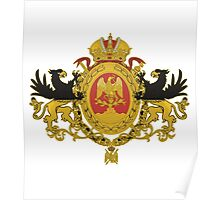 Russia Flag Tricolor Coat Of Arms Poster