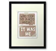 But I need it! Framed Print