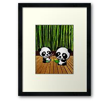 Panda Exchange Framed Print