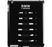 Bmw 3 Series Heritage, 1975-Present day (E21, E30, E36, E46, E90, F30) iPad Case/Skin