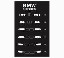 Bmw 3 Series history, 1982-Present day (E30, E36, E46, E90, F30) Sticker by ApexFibers