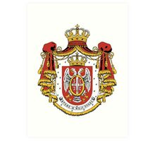 Serbia coat of arms Art Print