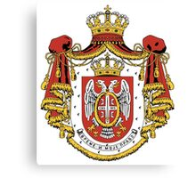 Serbia coat of arms Canvas Print