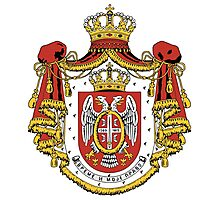 Serbia coat of arms Photographic Print