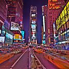 Times Square In Motion by Peter Bellamy