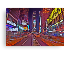 Times Square In Motion Canvas Print