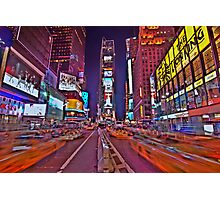 Times Square In Motion Photographic Print