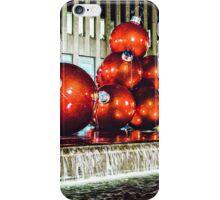 Red Balls at Rockefeller Plaza iPhone Case/Skin