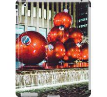 Red Balls at Rockefeller Plaza iPad Case/Skin