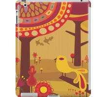 Retro Bird with Trees iPad Case/Skin