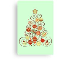 Elegant Christmas Tree Canvas Print