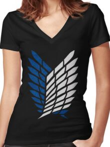 shield Women's Fitted V-Neck T-Shirt