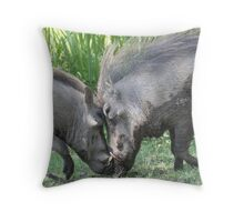 butting in. Throw Pillow