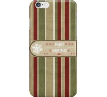 Snowflake Label Christmas Card - Merry Christmas iPhone Case/Skin