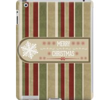 Snowflake Label Christmas Card - Merry Christmas iPad Case/Skin