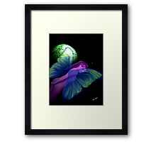 Faerie and Green Cheese Framed Print