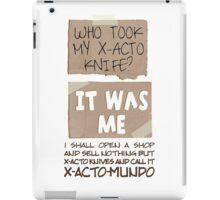 X-Acto-Mundo. iPad Case/Skin