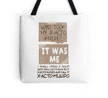 X-Acto-Mundo. Tote Bag