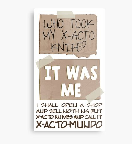 X-Acto-Mundo. Metal Print