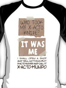 X-Acto-Mundo. T-Shirt