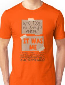 X-Acto-Mundo. Unisex T-Shirt
