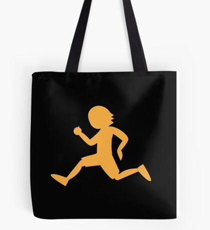 Runner running male shape Tote Bag
