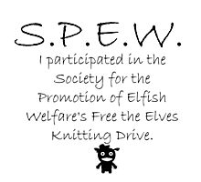 SPEW Knitting Drive Photographic Print