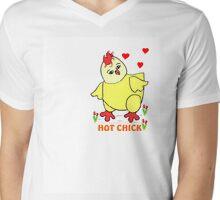 HOT CHICK Mens V-Neck T-Shirt