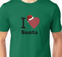 I Love Santa ( Black Text T-Shirt & Sticker) Unisex T-Shirt