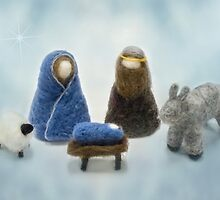 Felted Nativity by Celeste Mookherjee