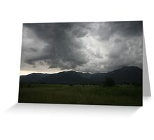 Mission Mountain Storm Greeting Card