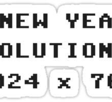 New Year's Display Resolution 1024x768 Sticker