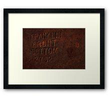 0150 - HDR Panorama - Rusty Print Framed Print