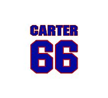 National football player Blanchard Carter jersey 66 Photographic Print