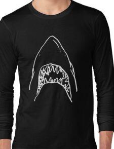 Shark - Black Long Sleeve T-Shirt