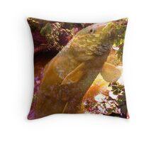 Wondrous Fish Pond Throw Pillow