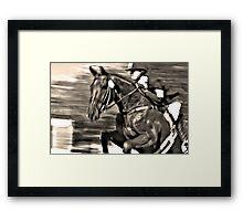 Equestrian Glory Framed Print