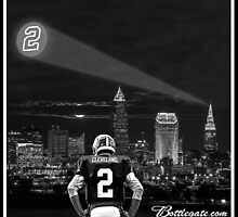 Johnny Manziel - Cleveland Skyline by GeraldGreen