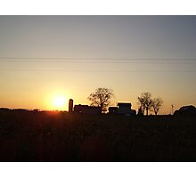 Sunset over Americana Photographic Print