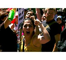 From outrage to anger Photographic Print
