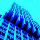 Blue Crazy Building by Cyn Piromalli