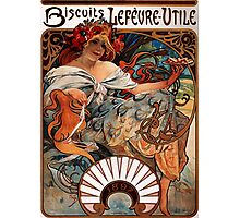 'Biscuits Lefevre-Utile' by Alphonse Mucha (Reproduction) Photographic Print