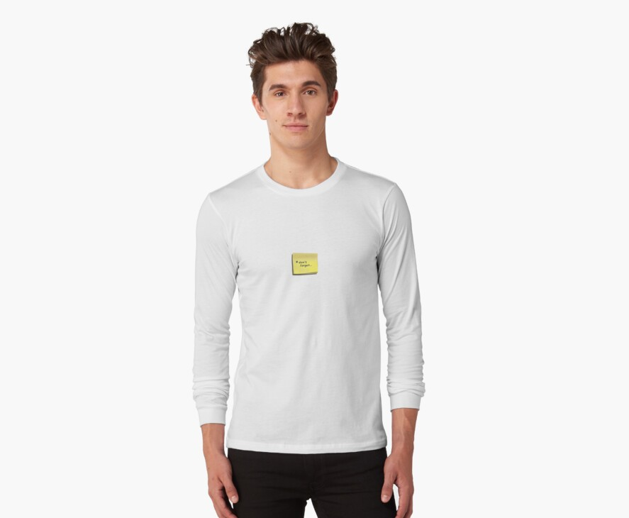 post-it note t-shirt by thepatternroom