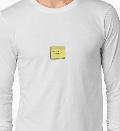 post-it note t-shirt Long Sleeve T-Shirt