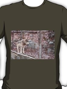Timber Wolf on Outcropping T-Shirt