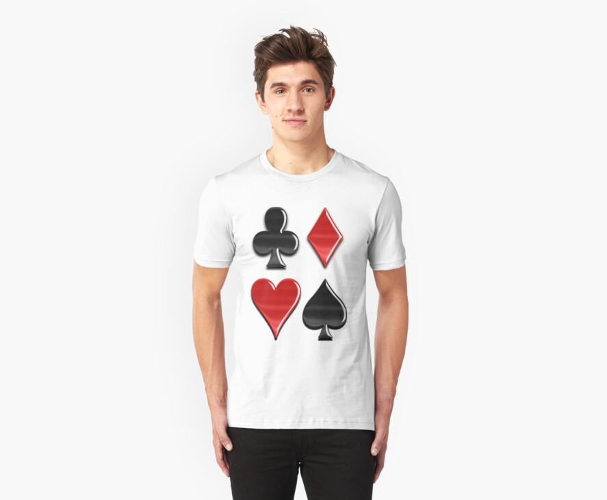 Four Suits Tee by BluAlien